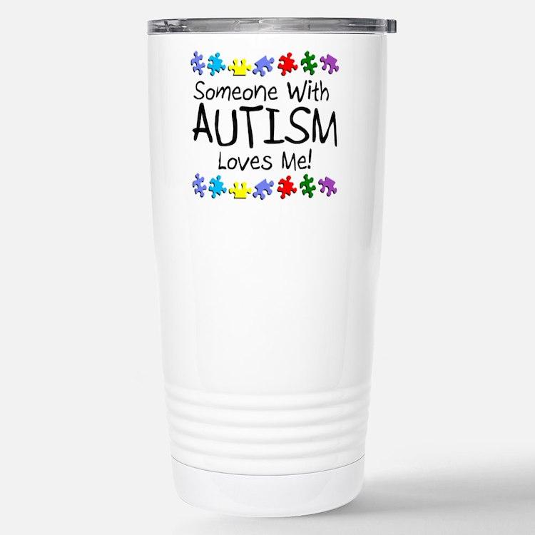 Cute Autism love Travel Mug