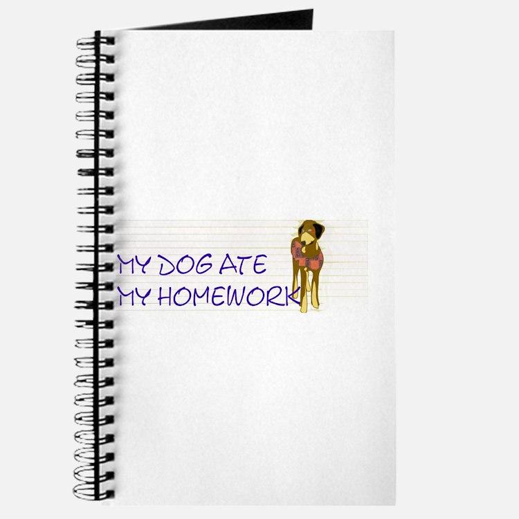 """Dog Ate Homework"" Journal"