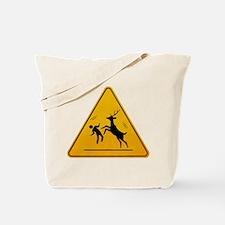 Deer Attack!!! Tote Bag