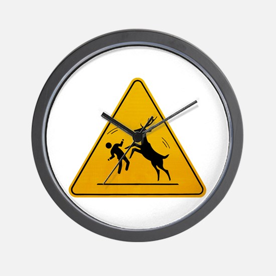 Deer Attack!!! Wall Clock