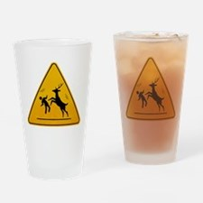 Deer Attack!!! Drinking Glass
