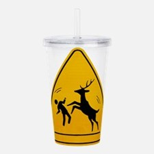 Deer Attack!!! Acrylic Double-wall Tumbler