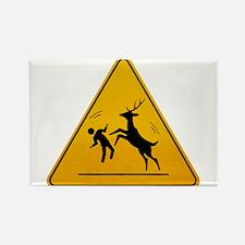 Deer Attack!!! Rectangle Magnet