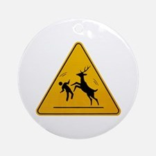 Deer Attack!!! Ornament (Round)