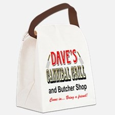 DAVE'S CANNIBAL GRILL Canvas Lunch Bag