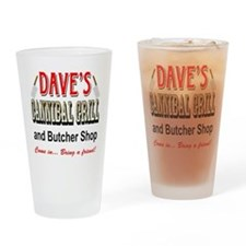 DAVE'S CANNIBAL GRILL Drinking Glass