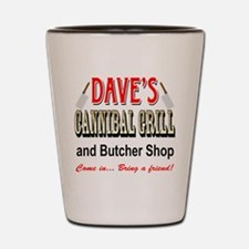 DAVE'S CANNIBAL GRILL Shot Glass