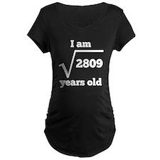 53rd Birthday Square Root Maternity T-Shirt
