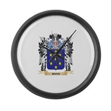 Hass Coat of Arms - Family Crest Large Wall Clock