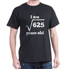25th Birthday Square Root T-Shirt
