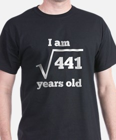 21st Birthday Square Root T-Shirt