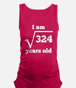 18th Birthday Square Root Maternity Tank Top