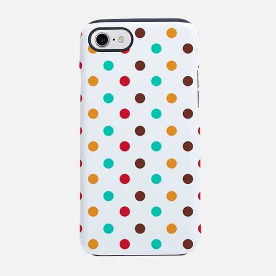 Multi Color Polka Dots iPhone 8/7 Tough Case