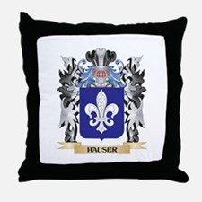 Hauser Coat of Arms - Family Crest Throw Pillow
