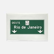 Rio de Janeiro Road Sign, Brazil Rectangle Magnet