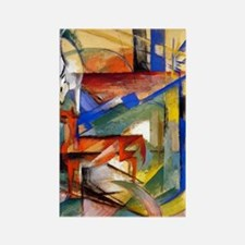 Marc - Composition of Animals II Rectangle Magnet