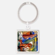 Marc - Composition of Animals II Square Keychain