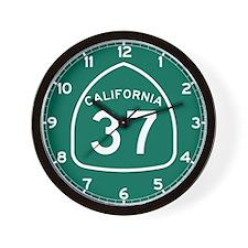 Route 37, California Wall Clock