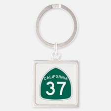 Route 37, California Square Keychain