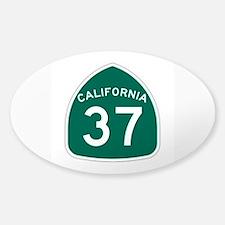 Route 37, California Sticker (Oval)