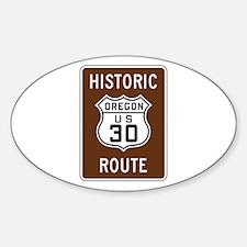 Historic U.S. 30, Oregon Decal