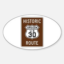 Historic U.S. 30, Oregon Sticker (Oval)