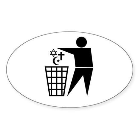 Trash Religion Oval Sticker
