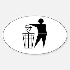 Trash Religion Oval Stickers