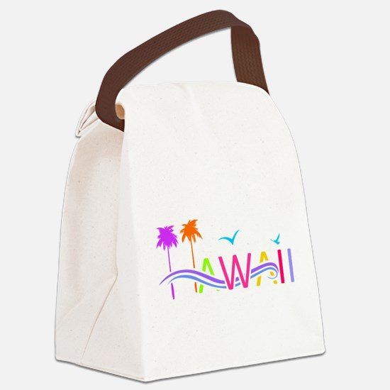Hawaii Islands Canvas Lunch Bag