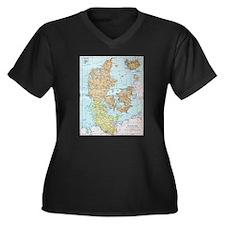 Vintage Map of Denmark (1905) Plus Size T-Shirt