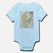 Vintage Map of Denmark (1905) Body Suit