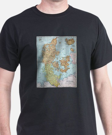 Vintage Map of Denmark (1905) T-Shirt