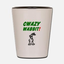 CWAZY WABBIT! Shot Glass