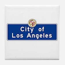 City of Los Angeles, California Tile Coaster
