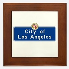 City of Los Angeles, California Framed Tile