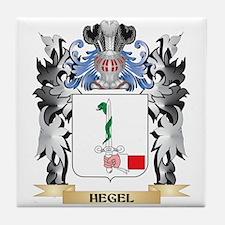 Hegel Coat of Arms - Family Crest Tile Coaster
