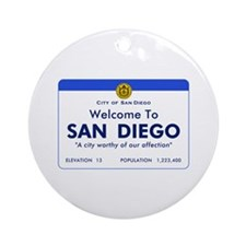 Welcome to San Diego, California Ornament (Round)