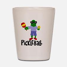 Pickle Playing Pickleball Shot Glass