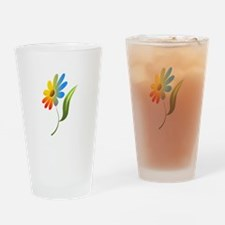 Rainbow Flower Drinking Glass