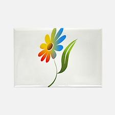 Rainbow Flower Magnets