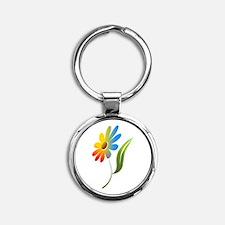 Rainbow Flower Keychains