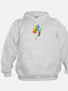 Rainbow Flower Hoodie