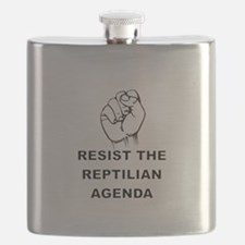 Resist The Reptilian Agenda Flask