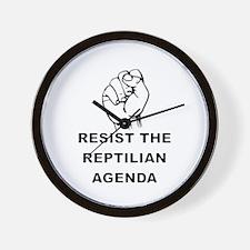 Resist The Reptilian Agenda Wall Clock