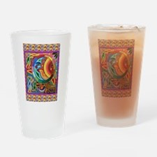 Mexican_String_Art_Image_Sun_Moon Drinking Glass
