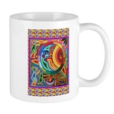 Mexican_String_Art_Image_Sun_Moon Mugs