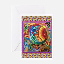 Mexican_String_Art_Image_Sun_Moon Greeting Cards