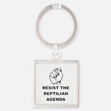 Resist The Reptilian Agenda Keychains