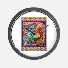 Mexican_String_Art_Image_Sun_Moon Wall Clock