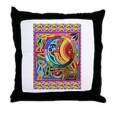 Mexican_String_Art_Image_Sun_Moon Throw Pillow